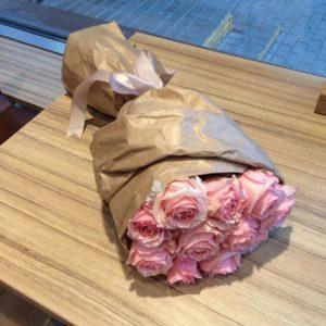 11 роз пинк романтика