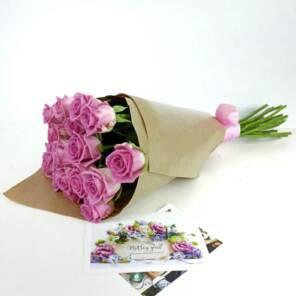 15 роз аква розовых