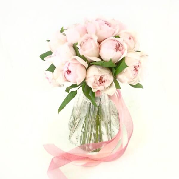 Букет невесты из пионовидных роз пиони пинк