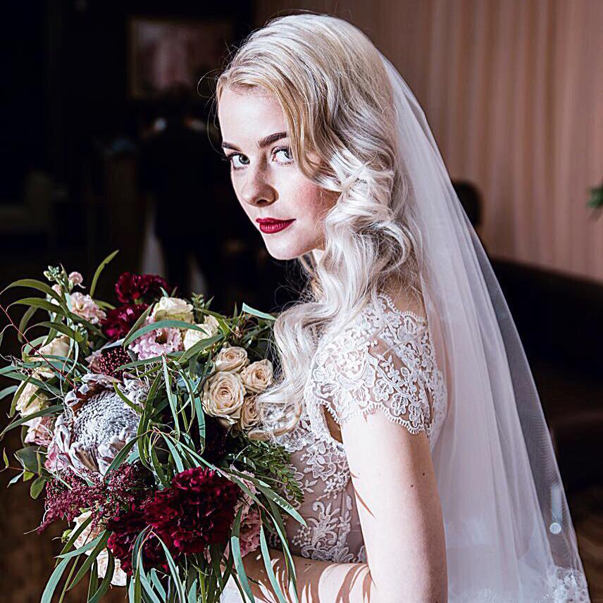 свадебный букет невесты растрепыш
