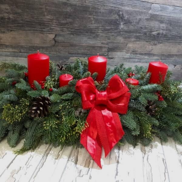 новогодняя композиция 3 свечи