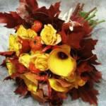 Букет невесты из оранжевых калл