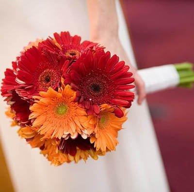 Осенний букет невесты из гербер