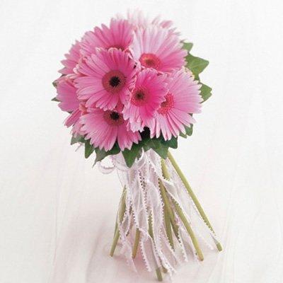 Букет невесты из розовых гербер