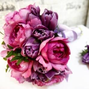 Букет невесты из роз ив пьяже