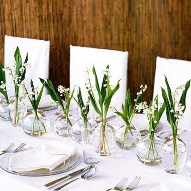 Ландыши на столы гостей