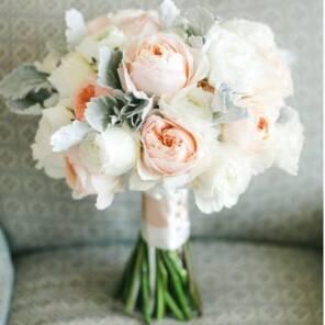 Букет невесты из роз Джулиет