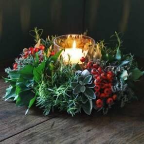 Рождественская мпозиция со свечой