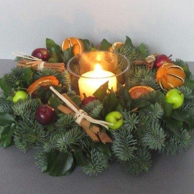 Рождественская композиция со свечой 3