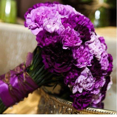 Фиолетовый микс гвоздик