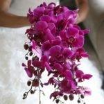 Индивидуальный заказ. Букет невесты из орхидей.