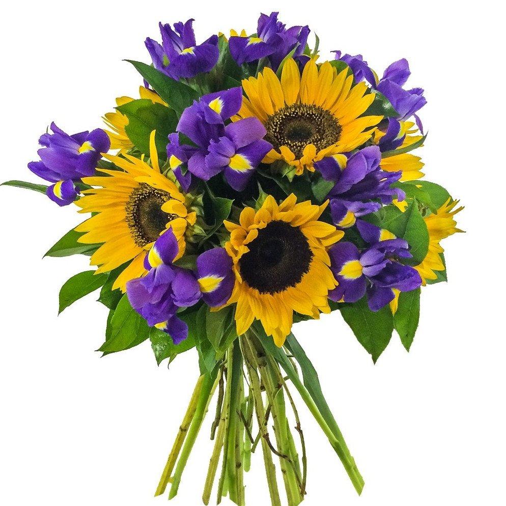 Цветы загородном, букеты с подсолнухами на заказ с доставкой