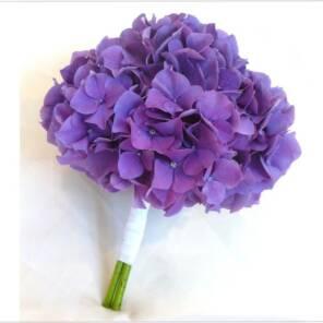 Монобукет фиолетовой гортензии