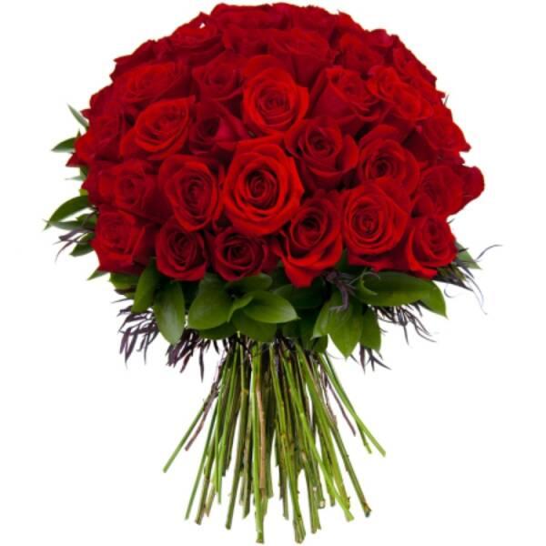 49 красных роз 70 см