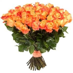 51 оранжевая роза 70 см