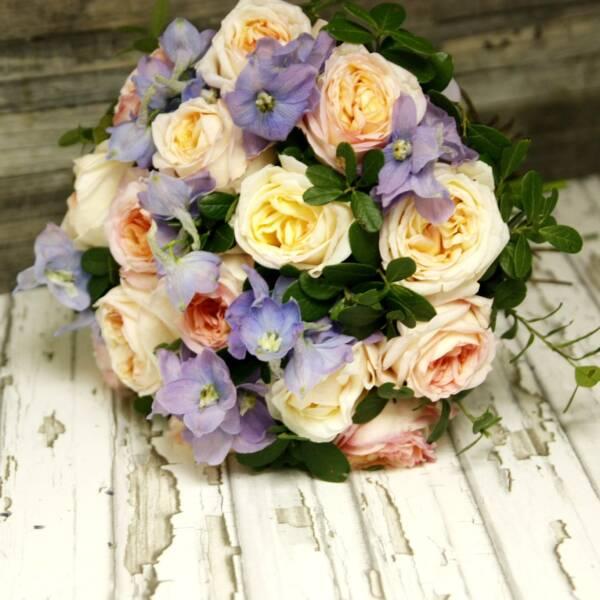 Розы Анджи Романтика и Дельфиниум