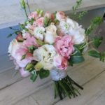 spectacular-white-designer-lisianthus-flower-dazzling-pink-rose-romantic-bouquet